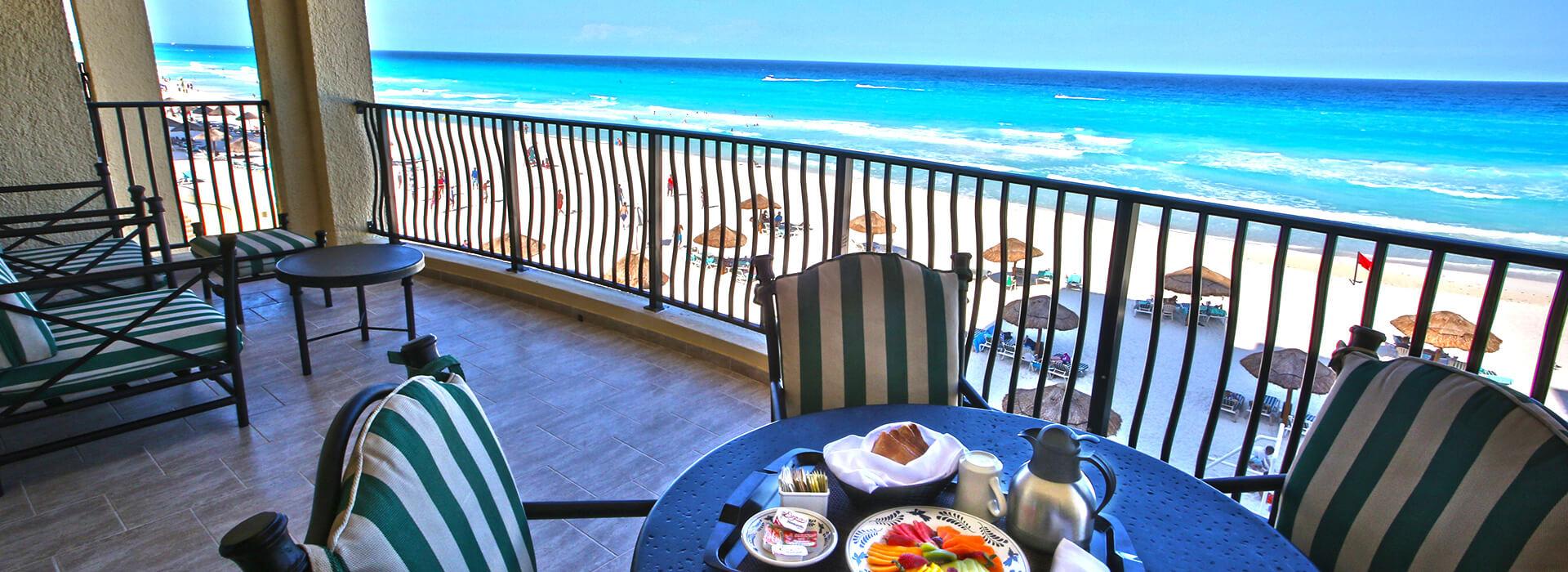 Amenidades de las villas frente al mar de una recámara para sus vacaciones Todo Incluido en Cancun
