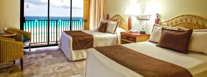 Enjoy moments of peace with dazzling ocean views in our exclusive beachfront resort in Cancun