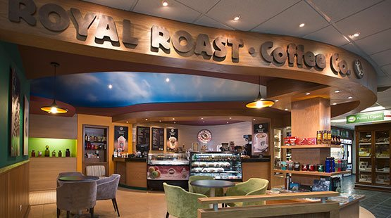royal roast coffee corner at the royal sands