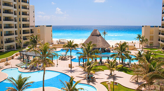 yoga in Cancun beach resort
