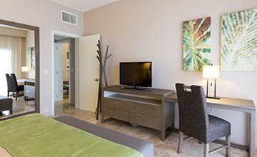 Ocean view villas one bedroom suite with full dining and living areas