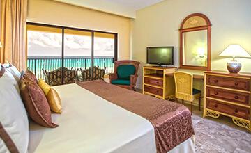 vista del mar desde suite en Cancún